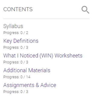 moodle interface