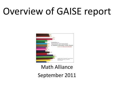 Overview & Comparison of Gaise report Levels