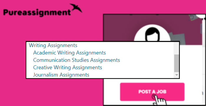writing assignment help categories